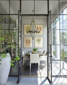 greige: interior design ideas and inspiration for the transitional home : Grey and light. Loving the steel windows and doors! Style At Home, Steel Doors And Windows, Veranda Magazine, New Orleans Homes, Transitional House, Deco Design, Design Design, Graphic Design, My New Room