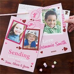 These HUGE Personalized Oversized Valentine's Day Cards are so cute and the perfect thing for the kids to send to Grandma and Grandpa! You can personalize them with 1 or 2 photos and any message you want ... such a cute idea! Only $5.95 at PersonalizationMall! #Valentine