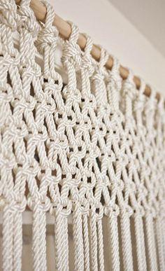 hacer una cortina con cuerda!