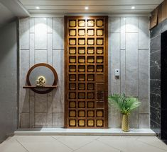Modern Entrance Door, Main Entrance Door Design, Exterior Wall Design, Home Entrance Decor, Door Design Interior, Front Door Design, Entrance Foyer, Interior Designing, Design Interiors