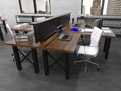 Bastille Workstation #commercial #design #moderndesign #ironageoffice http://www.ironageoffice.com/