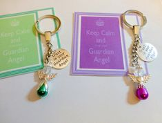 Trust in your Guardian Angel, Keep Calm and Trust your Guardian Angel Key Ring Believe Keep safe Charm Remembrance Gifts, Kitty Pryde, Your Guardian Angel, Organza Gift Bags, Easy Sewing Projects, Novelty Gifts, Trust Yourself, Key Rings, Keep Calm