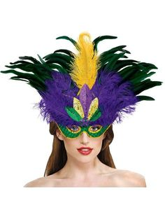 Deluxe Masquerade Mask - Party City. Mardi Gras mask I like.