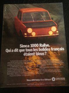Publicité Simca 1000