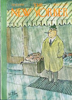 New Yorker cover William Steig businessman with cigar 4/8 1967