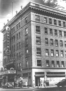 """Albuquerque's First Movie Palace: The Sunshine Theatre, located at 120 Central Avenue SW, opened with much fanfare on May 1, 1924.  Its first movie was """"Scaramouche"""" starring Ramon Navarro.  This showing included a special orchestra to accompany the film."""