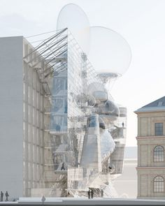 Austrian architect Wolfgang Tschapeller has won a competition to overhaul the University of Applied Arts Vienna with proposals that include facade-climbing staircases and giant balloons.