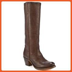 FRYE Women's Jane Stitching Horse Boot, Dark Brown, 7 M US - Boots for women (*Amazon Partner-Link)