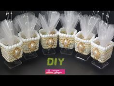 Роскошные Бонбоньерки своими руками #Marine_DIY_Guloyan - YouTube Wedding Favors And Gifts, Brick Stitch Tutorial, Mothers Day Crafts, Wedding Cupcakes, Diy Wedding, Floral Arrangements, Christmas Crafts, Recycling, Baby Shower