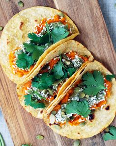Sweet Potato Tacos - Super simple tacos that pack a flavor/texture punch! Full recipe at theliveinkitchen.com