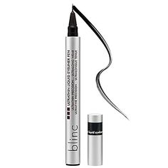 Blinc Ultrathin Liquid Eyeliner Pen provides the thinnest, most exact line possible, allowing for unparalleled versatility. blinc ultrathin liquid eyeliner pen cannot fade, smudge or run, even if you cry or rub your eyes. Buy it now! Eyeliner Hacks, Simple Eyeliner, Eyeliner Styles, Best Eyeliner, Eyeliner Brush, How To Apply Eyeliner, Pencil Eyeliner, Eyeliner Makeup, Liquid Eyeshadow