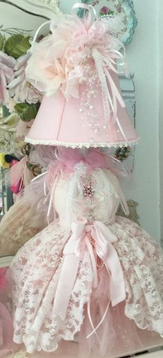 Shabby Chic  Bustier Accent Dress Form Lamp