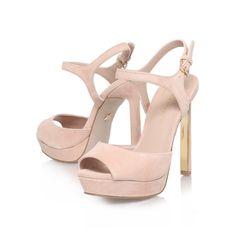 hazel, nude shoe by kg kurt geiger - women shoes platforms