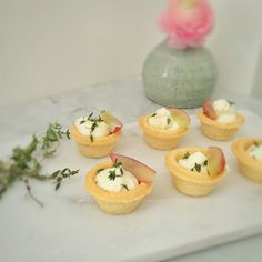 Mini phyllo cups with goat cheese, thyme and grapes by #praguepicnics #catering #appetizers #cateringbypraguepicnics #goatcheese