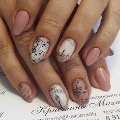 Music Love Venice. Love for music and Venice is never ending- at least at my side. If you are too, in love with these too in combo with spring, then having this simple and elegant nail design is must.