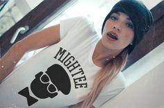 #hot #sexy #streetwear mightee logo tee white