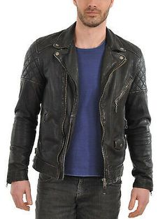 Men's Genuine Lambskin Real Leather Jacket Black Slim fit Biker Motorcycle jacket sold by Shop more products from on Storenvy, the home of independent small businesses all over the world. Lambskin Leather Jacket, Biker Leather, Leather Jackets, Riders Jacket, Bomber Jacket, Jacket Men, Smooth Leather, Real Leather, Men's Fashion