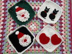 crocheted grannys - very cute