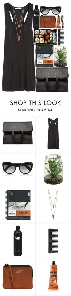 """""""sushi night"""" by aria-97 ❤ liked on Polyvore featuring Maison Margiela, T By Alexander Wang, Cutler and Gross, Jura, Jules Smith, Sephora Collection, Acne Studios and Aesop"""