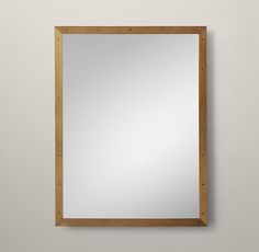 RH's Metal Framed Mirror:Our sleek metal frame has a clean finish and minimalist…