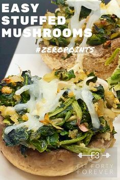 Our Zero-Point Easy Stuffed Mushrooms are a fun appetizer to serve throughout the holidays and on special occasions. A zero-point serving is for two Easy Stuffed Mushrooms and is 60 calories for two. Best Party Appetizers, Quick Appetizers, Holiday Appetizers, Appetizer Recipes, Low Sugar Recipes, Light Recipes, Appetizer Sandwiches, Healthy Side Dishes, Clean Eating Snacks