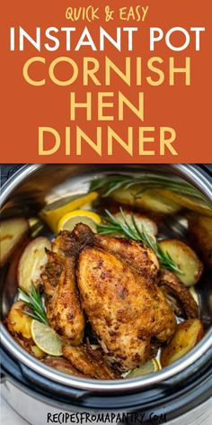Easy Potluck Recipes, Supper Recipes, Lunch Recipes, Crockpot Recipes, Chicken Recipes, Best Instant Pot Recipe, Instant Pot Dinner Recipes, Cooking Cornish Hens, Lunch Meal Prep
