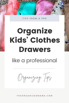 As a professional organizer, I get asked easy ways for organizing kids' clothes drawers. I'm sharing my step-by-step process here! Kids Clothes Organization, Kids Bedroom Organization, Small Space Organization, Clothes Drawer, Dresser Drawer Organization, Kids Dressers, Kid Closet, Inspiration For Kids, Pin Image