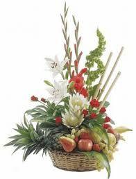 Risultati immagini per composizioni fiori e frutta