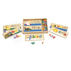 "First, ""feel"" the alphabet, ""see"" the alphabet. Next, associate letters with objects! Puzzle-playing preschoolers marvel in using puzzle-solving skills to spell words. A great, confidence-building, teaching resource for pre-readers."