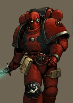 Deadpool Space Marine by FonteArt.deviantart.com on @deviantART