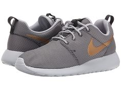 Nike Roshe Run White Metallic Gold
