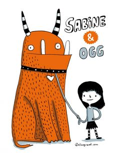 Elise Gravel is an author and illustrator from Montreal. Monster Illustration, Children's Book Illustration, Character Illustration, Elise Gravel, Little Girl Illustrations, Illustration Mignonne, Monster Coloring Pages, Doodle Characters, Cute Monsters