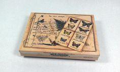 Butterflies Rubber Stamp Scrapbook Crafts by MazzyBlueCraftStudio, $6.00