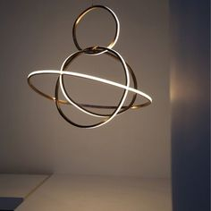 Niambarry I Chandelier Apoapsis I Brushed solid bronze, Opal Glass LED
