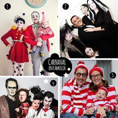 Ideas para disfrazarse en familia. Family costumes. Blog www.micasaencualquierparte.com