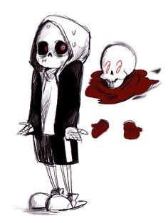 Murder!Sans and Ghost!Papyrus