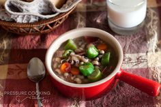 Ring in the New Year with a Quick Black-Eyed Pea Soup - a ham and bean soup with a southern twist.