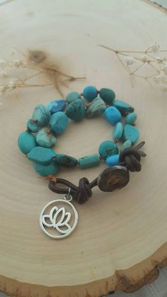Hey, I found this really awesome Etsy listing at https://www.etsy.com/ca/listing/244791502/double-wrap-turquoise-bracelet-lotus