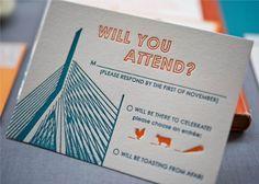 Cute RSVP card - love the entrée symbols!
