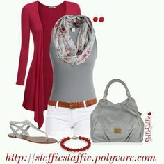 Crimson, white, and gray!!! Perfect combination