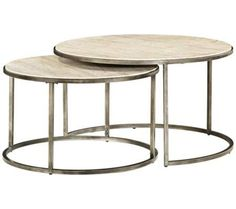 Monterey Coffee Table, Round Nesting   Coffee, Console U0026 End Tables  Travertine Marble Tops U0026 Metal Bases In A Textured Bronze Finish Coffee  Table ...
