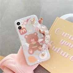 Cartoon Bear Bracelet Phone Case hamburger-iPhone12Pro