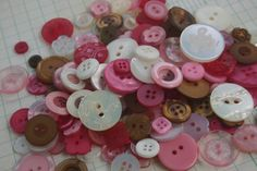Hey, I found this really awesome Etsy listing at https://www.etsy.com/listing/216652445/pink-brown-cream-buttons-assorted-round
