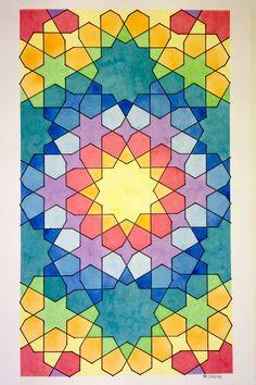 Islamic Motifs, Islamic Art Pattern, Arabic Pattern, Pattern Art, Tessellation Patterns, Mosaic Patterns, Arabic Design, Arabic Art, Geometric Drawing