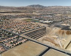 Suburbs with Quarry, North Las Vegas, Nevada, USA, 2007 Edward Burtynsky's aerial photography Book A Hotel Room, North Las Vegas, Online Travel, Birds Eye View, Urban Planning, Aerial Photography, Aerial View, The Guardian, Best Hotels