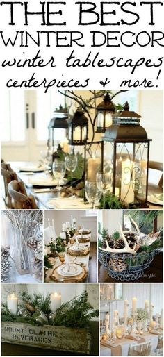 The best winter decor inspiration! How to decorate after you take down all of your Christmas decor! #howtodecorateweddingcandles