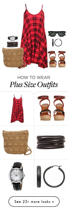 """""""Plus set"""" by kneesaasmom on Polyvore featuring Magid, Isabel Marant, Ray-Ban, Valentino, Mondevio and Burberry"""
