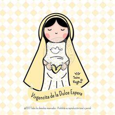 Virgen de la Dulce Espera God Is Good, Family Pictures, Disney Characters, Fictional Characters, Saints, Aurora Sleeping Beauty, Blessed, Doodles, Sketches