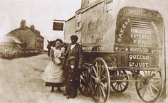 WARREN'S BAKERY | St Just, Cornwall: Vintage photograph of delivery cart ✫ღ⊰n