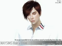 TS4 116F For male / no Hats / 19 Colors maysims(http://www.maysims.com) Sims by He-ss Download link